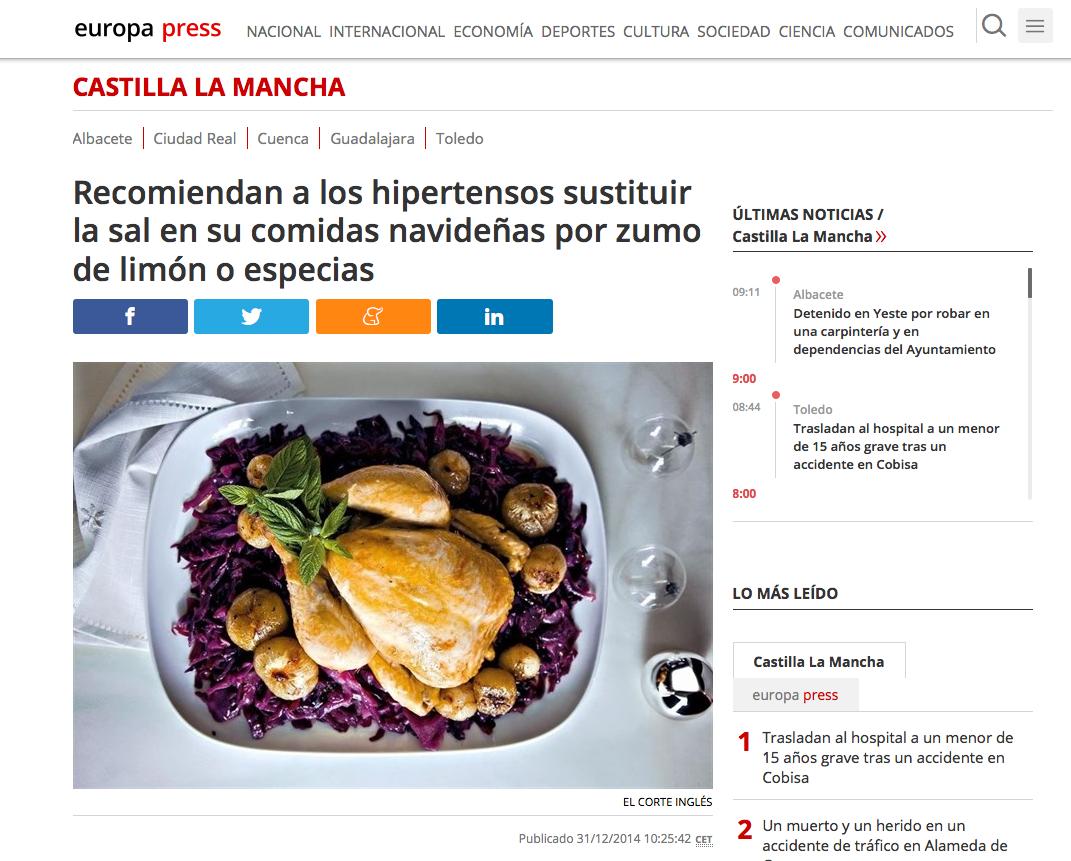Una propuesta de menú saludable para nochevieja con Álvaro Smit