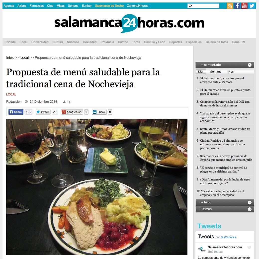 Propuesta de menú saludable para la tradicional cena de Nochevieja con Álvaro Smit